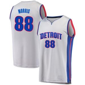 Fanatics Branded Detroit Pistons Swingman Gray Markieff Morris Fast Break Alternate Jersey - Statement Edition - Men's