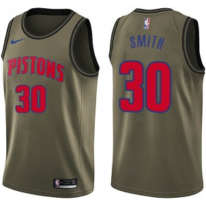 Nike Detroit Pistons Swingman Green Joe Smith Salute to Service Jersey - Men's