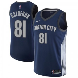 Nike Detroit Pistons Swingman Navy Jose Calderon Jersey - City Edition - Men's