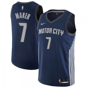 Nike Detroit Pistons Swingman Navy Thon Maker Jersey - City Edition - Youth